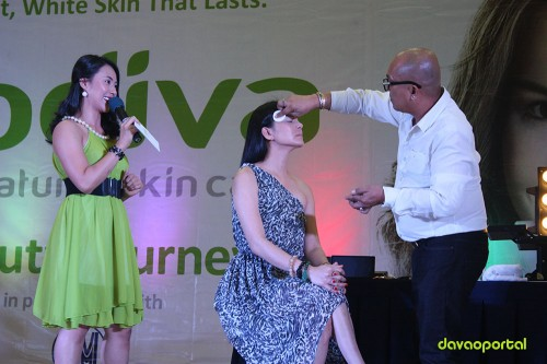 Allan Alforque Make-up Demonstration at Godiva Skin Care Product Launching