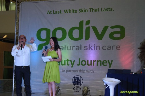Claudette Centeno and Allan Alforque at Godiva Skin Care Product Launching in Davao
