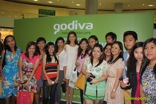 picture taking with jessica kienle at godiva product launching