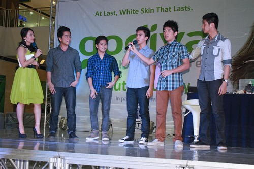 y-fi (young filipinos) boyband at Godiva skin care product launching