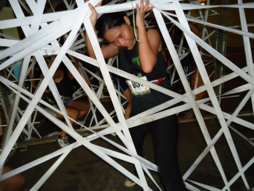 obstacle course at havoc fun  run in davao city