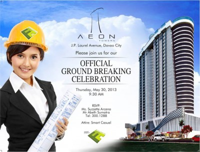 aeon tower ground breaking ceremony in davao