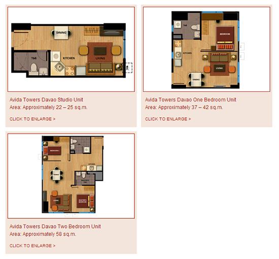 avida towers in davao city - condo unit options