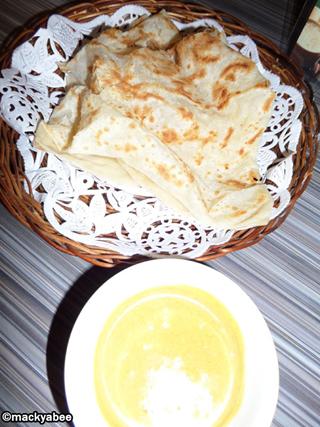 Roti Canai with Curry Sauce at Banana Leaf Restaurant SM Lanang Premier