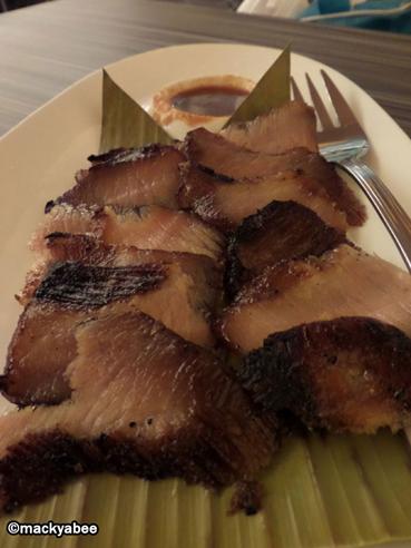 charcoal-grilled pork at banana leaf davao