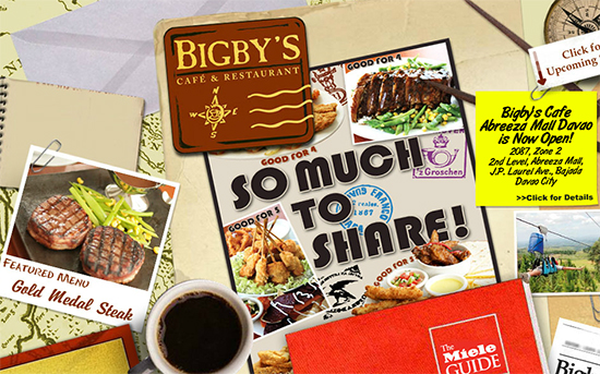 bigby's cafe and restaurant abreeza and sm city davao branch