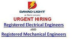 vacant jobs at davao light company