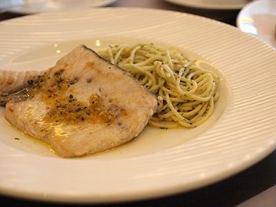herbed garlic fish streak - Alor's restaurant davao city