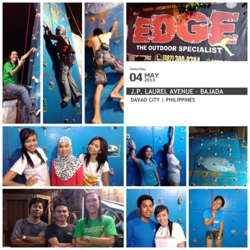 wall climbing at EDGE - the outdoor specialist - in Davao City
