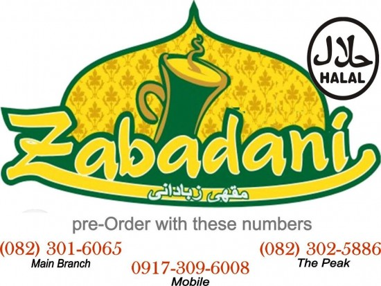 zabadani halal restaurant the peak davao city