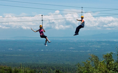 zip line at eden nature park and resort davao city