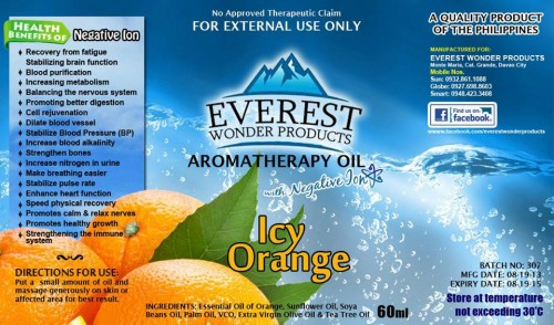 Everest Oil Product - Icy Orange