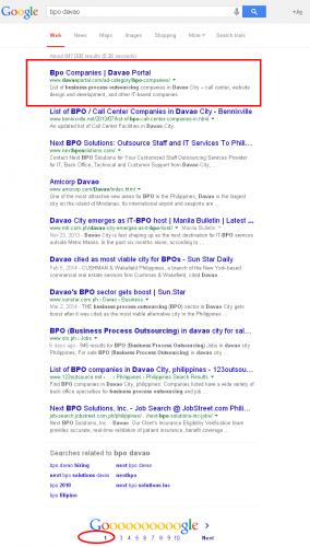 bpo davao Google Search