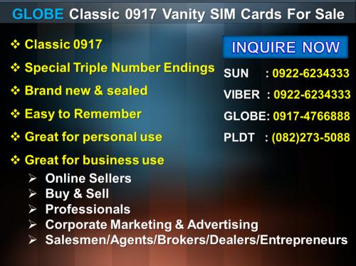 Vanity Sims for Sale - Davao Portal