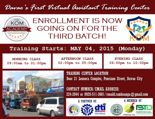 Batch3 Enrollment - KOM Academy VA Program